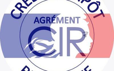 Obtention de l'agrément CIR !